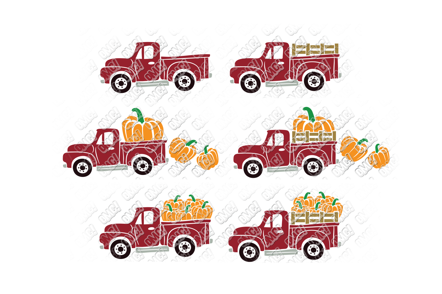 Vintage Pumpkin Truck Fall in SVG, DXF, PNG, EPS, JPEG example image 2