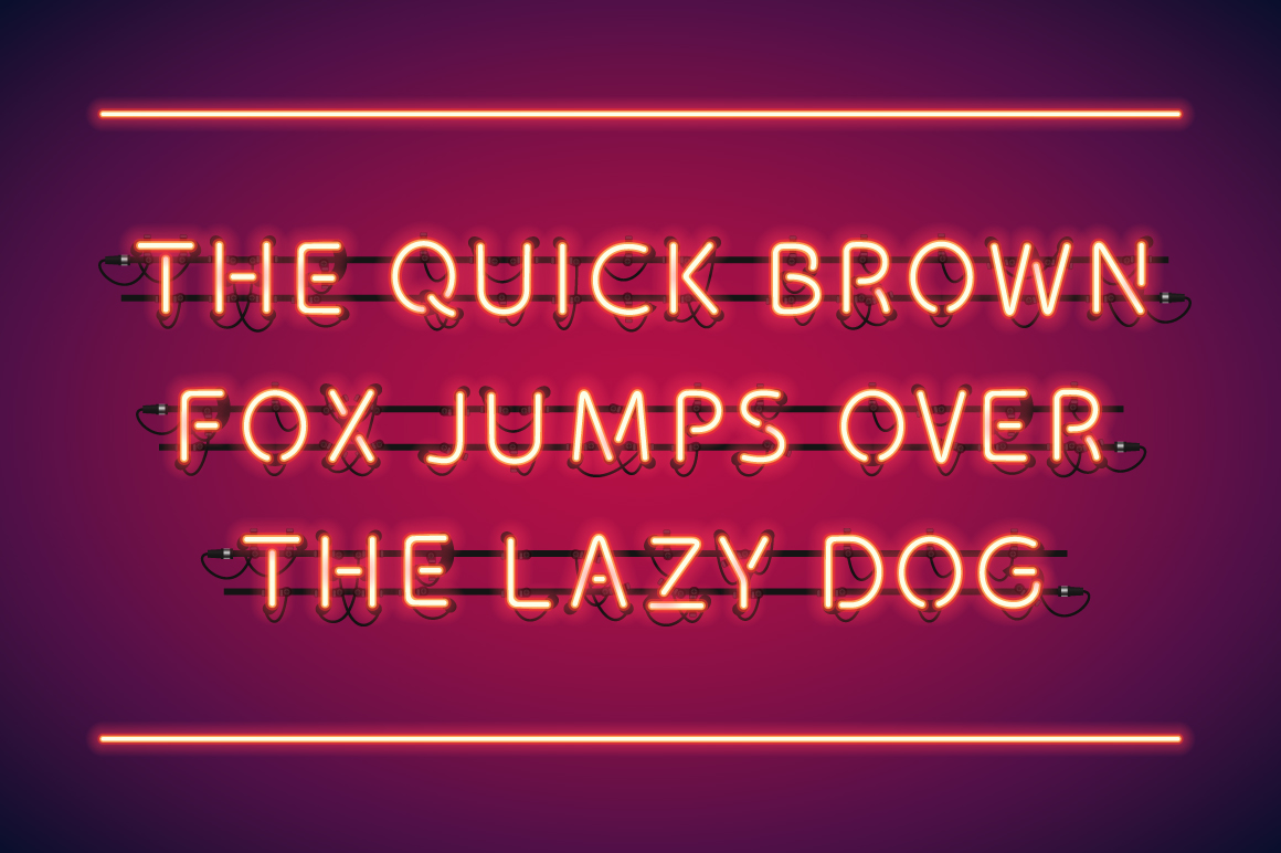 Red Glowing Neon Type example image 1