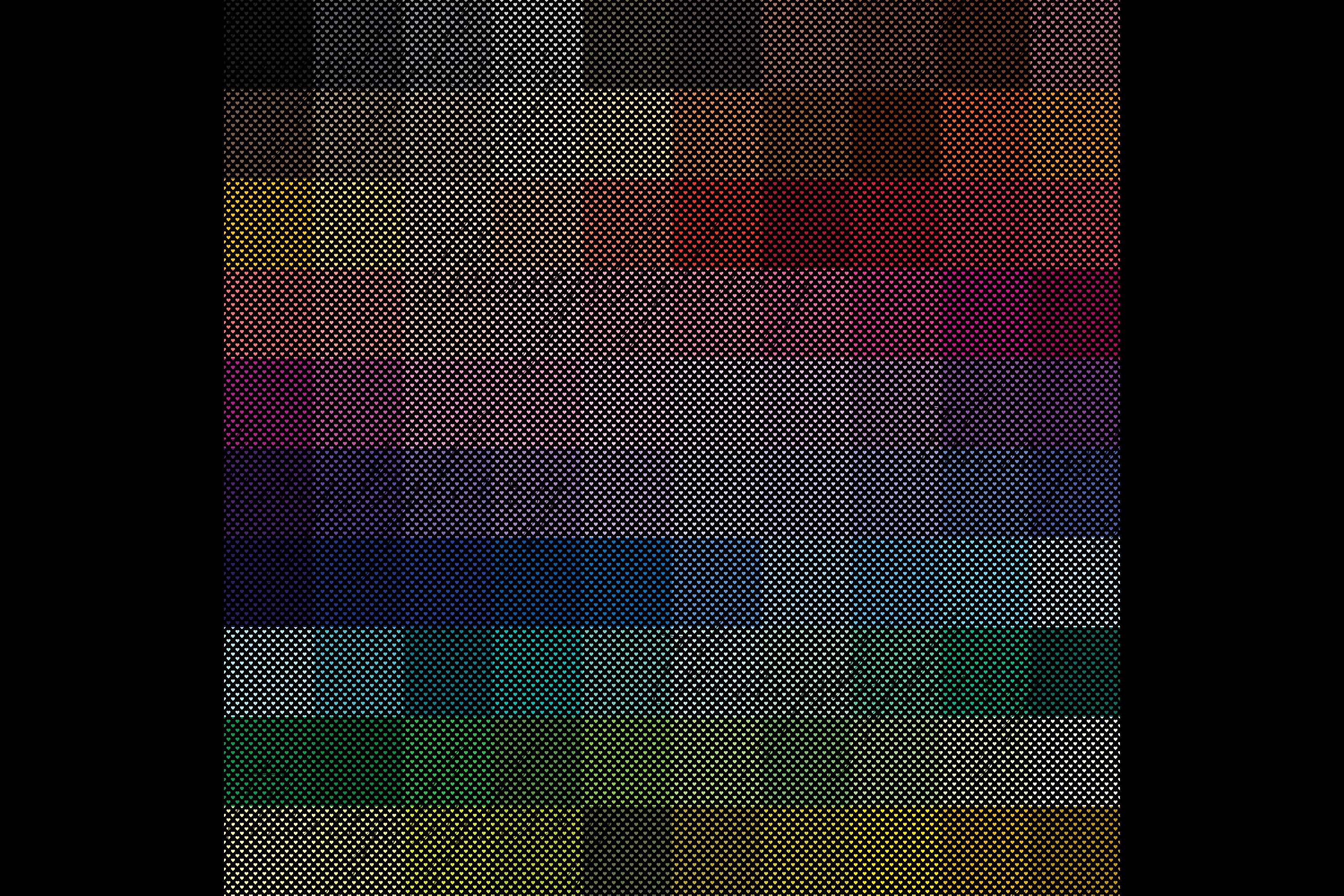 100 Seamless Black and Solid Heart Valentine Digital Papers example image 10