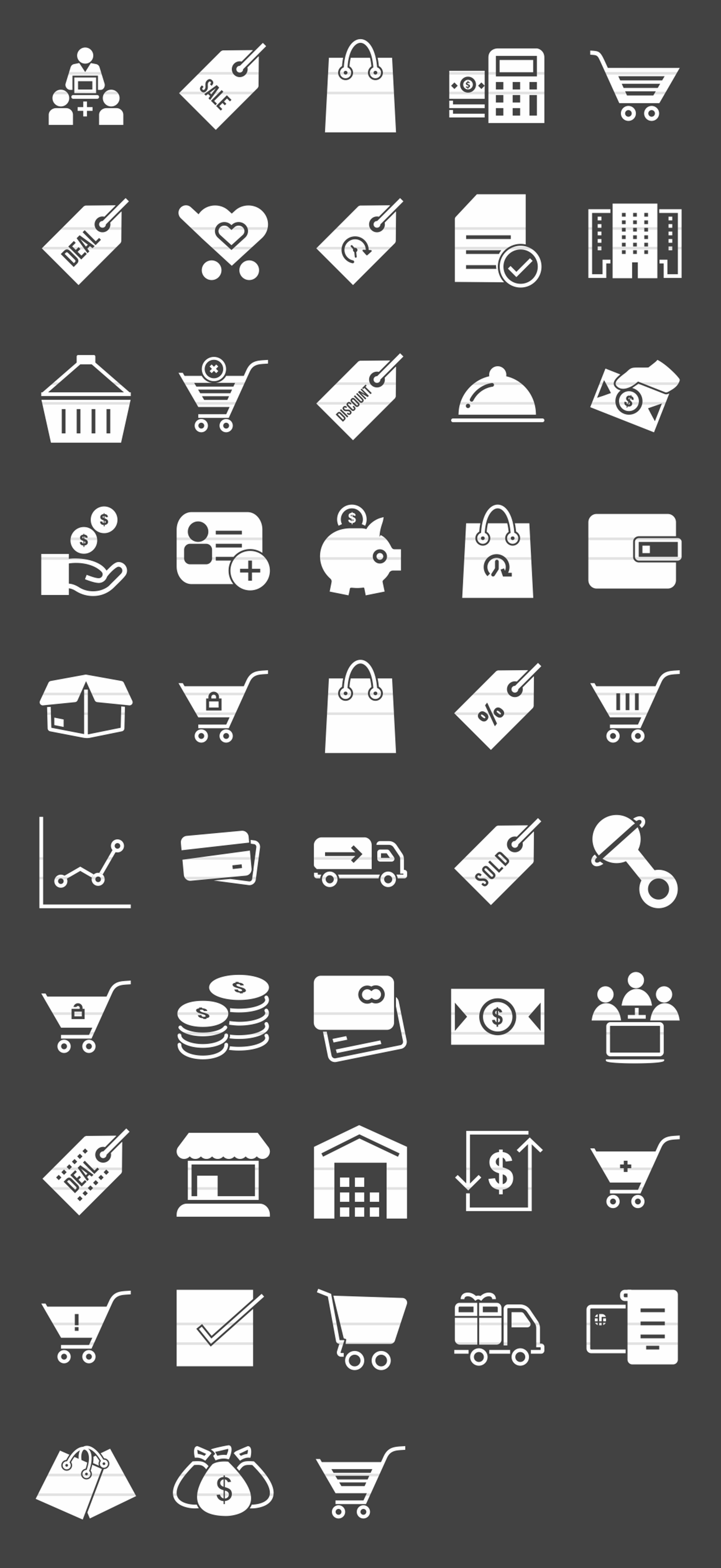 48 Ecommerce Glyph Inverted Icons example image 2