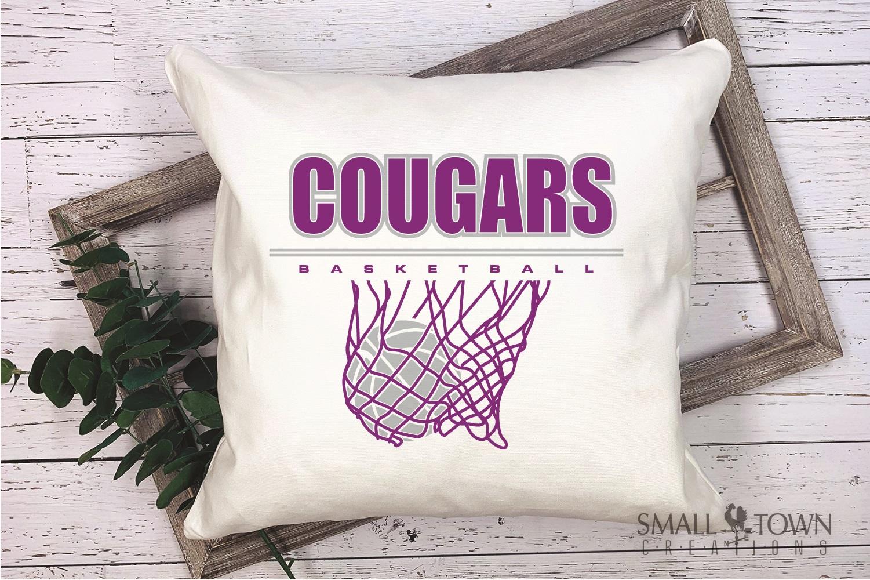 Cougar basketball, Cougars mascot, PRINT, CUT, DESIGN example image 3