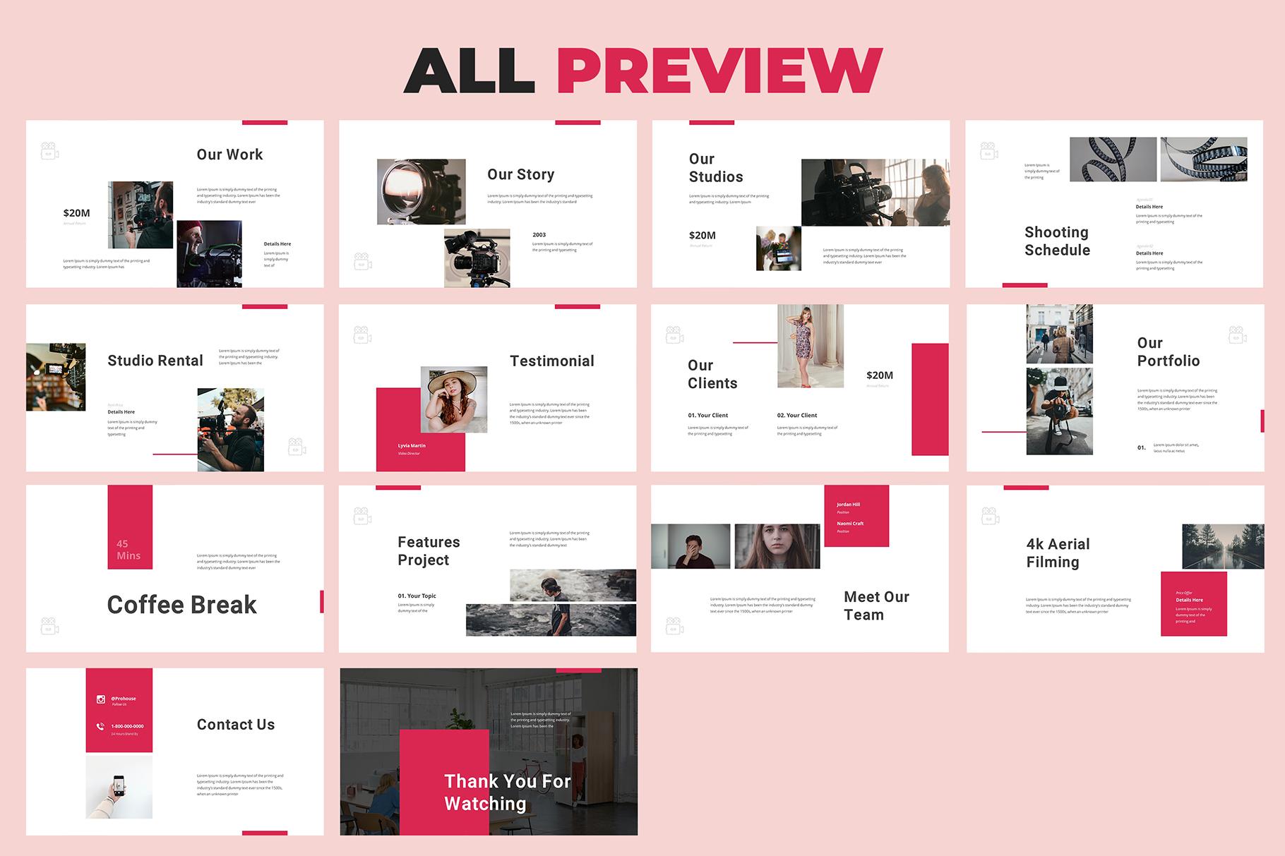 Production House Google Slides example image 6