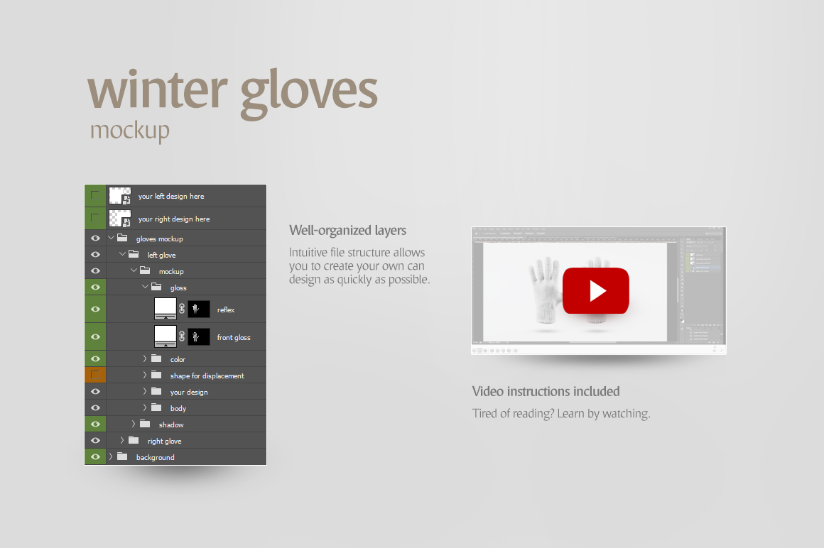 Winter Gloves Mockup example image 7