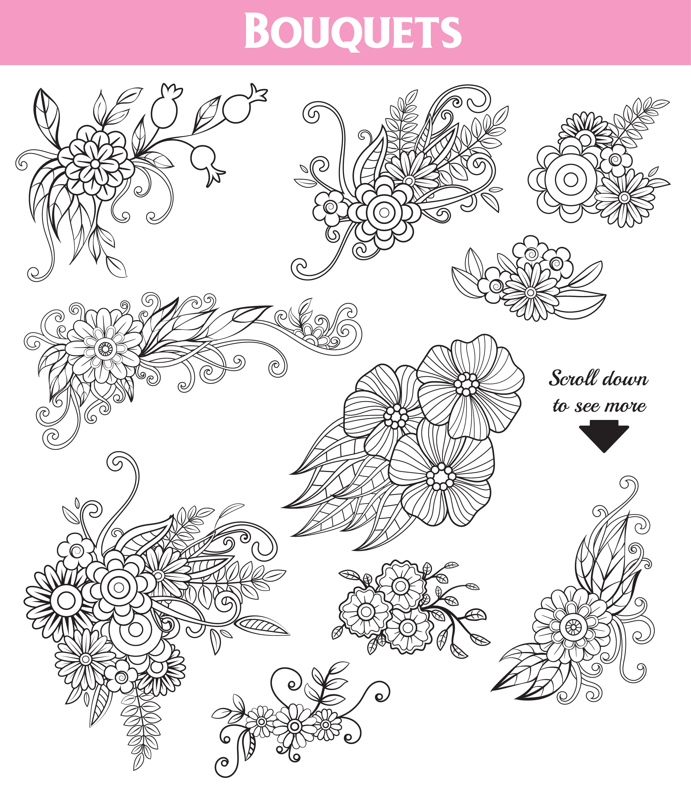 Floral Doodles Collection example image 7