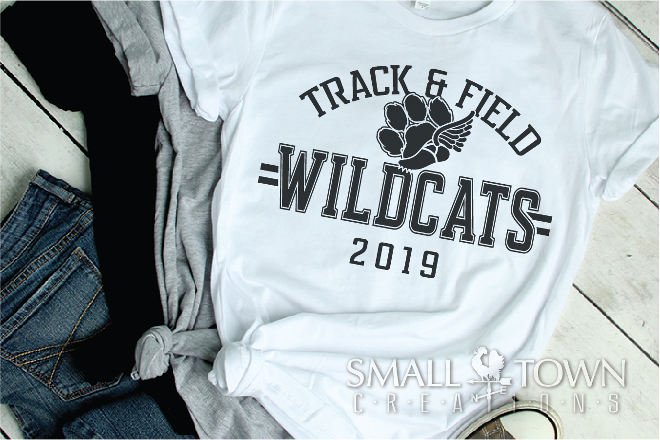 Wildcats Track and Field, Wildcat mascot, PRINT, CUT, DESIGN example image 2