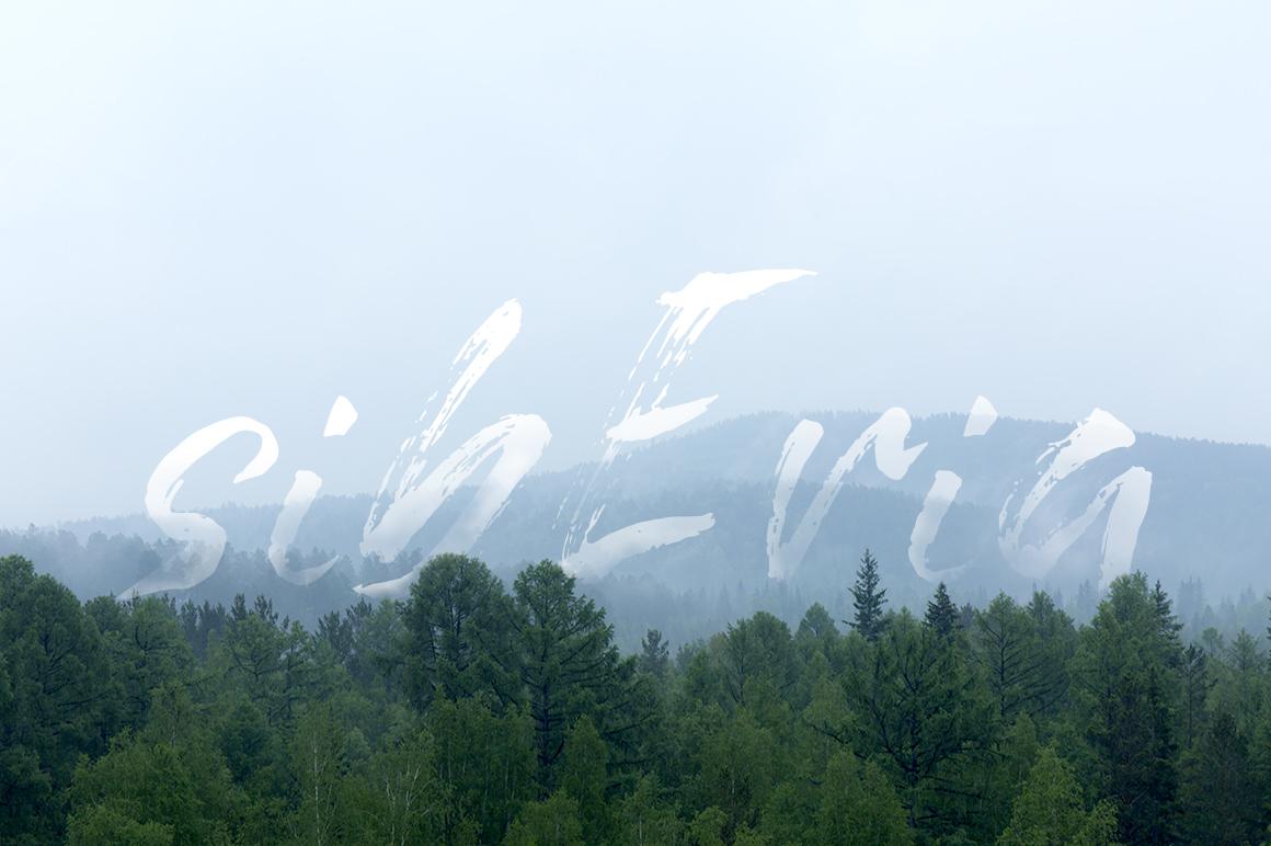 Grunge dry brush font example image 3