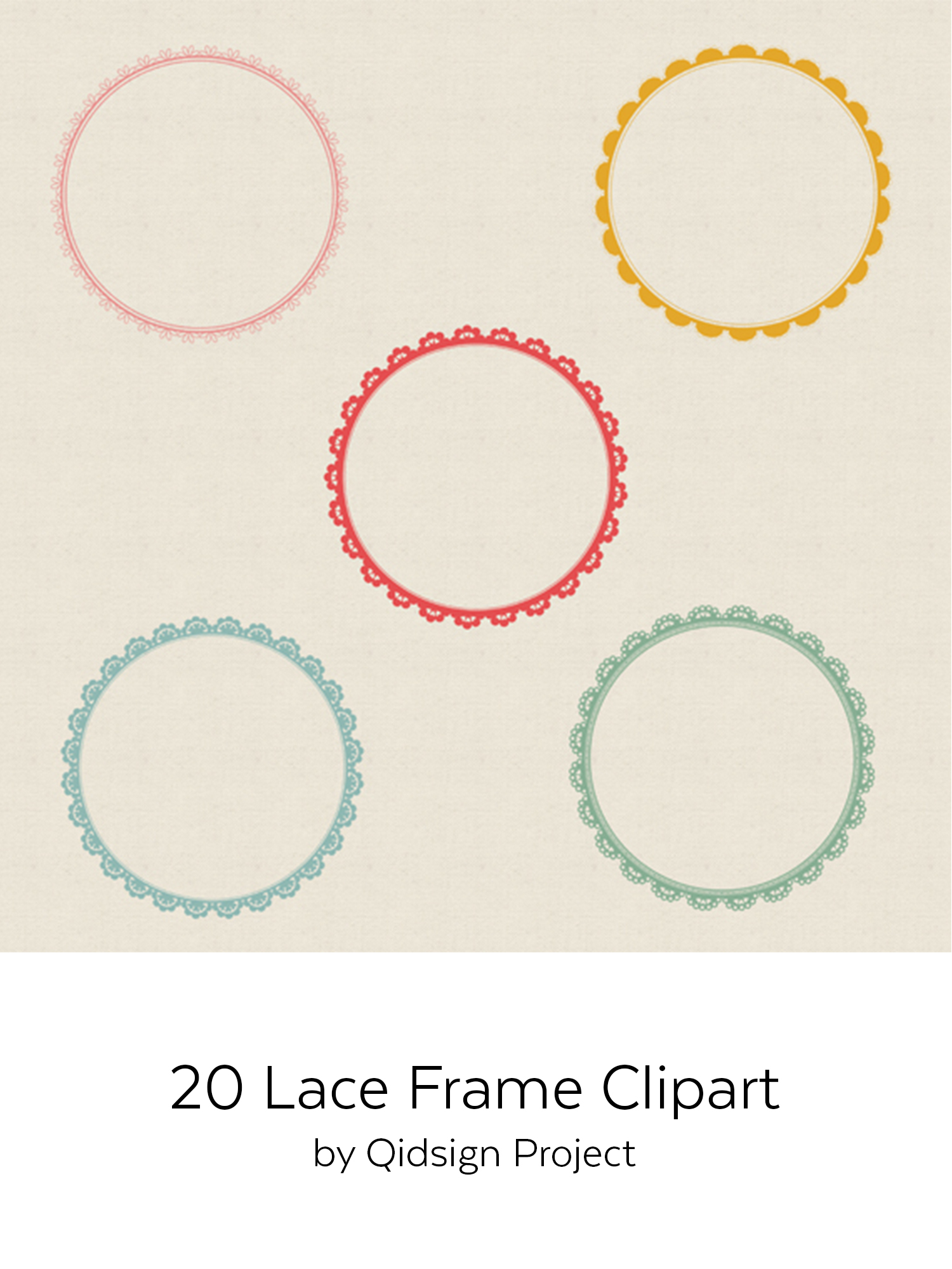 20 circle lace clipart | PNG | JPG example image 3