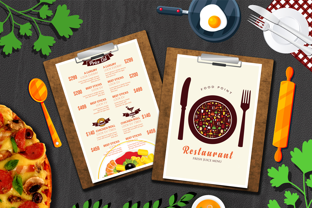 Restaurant Menu Psd Flyer example image 3