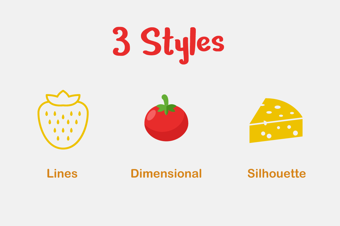 Food Vector Set example image 2