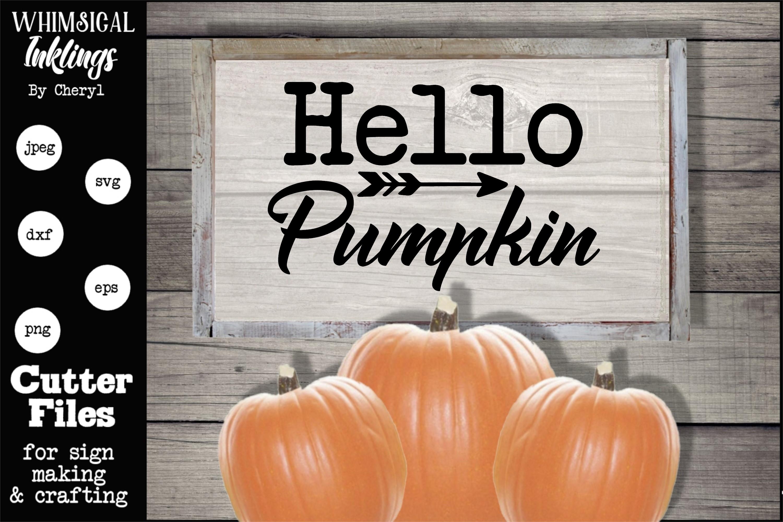 Hello Pumpkin SVG example image 1
