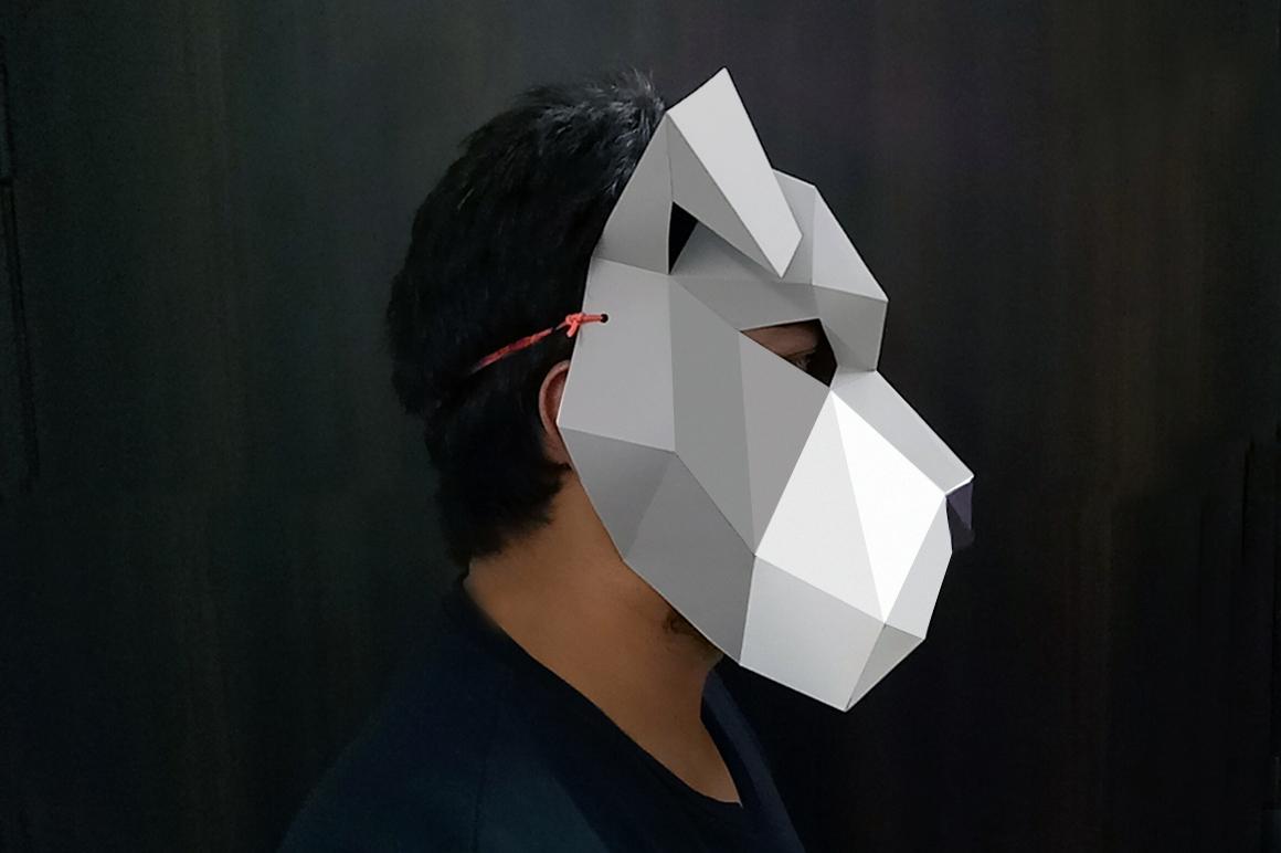 DIY Schnauzer Mask - 3d papercraft example image 2