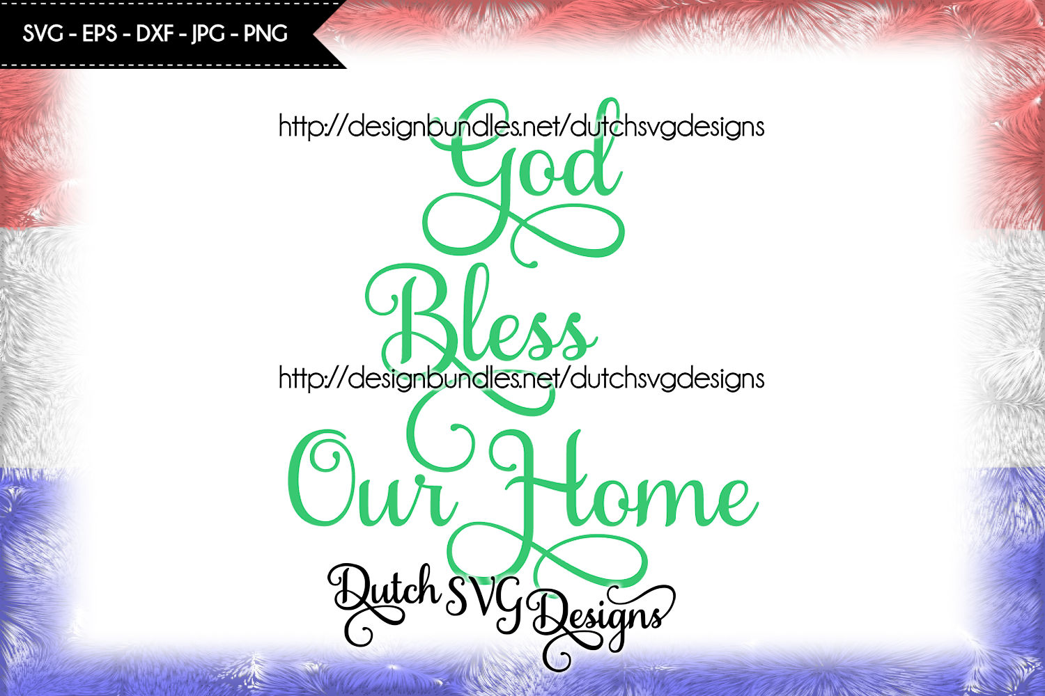 Text cutting file God Bless our Home, svg cut file example image 3