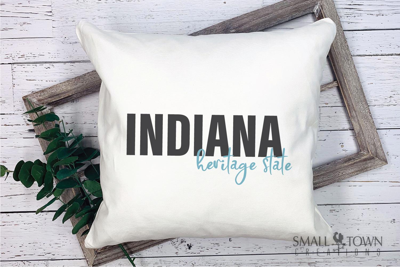 Indiana, Heritage state - slogan, Logo, PRINT, CUT & DESIGN example image 5