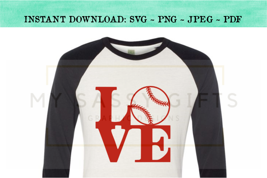 Love With Baseball SVG example image 3