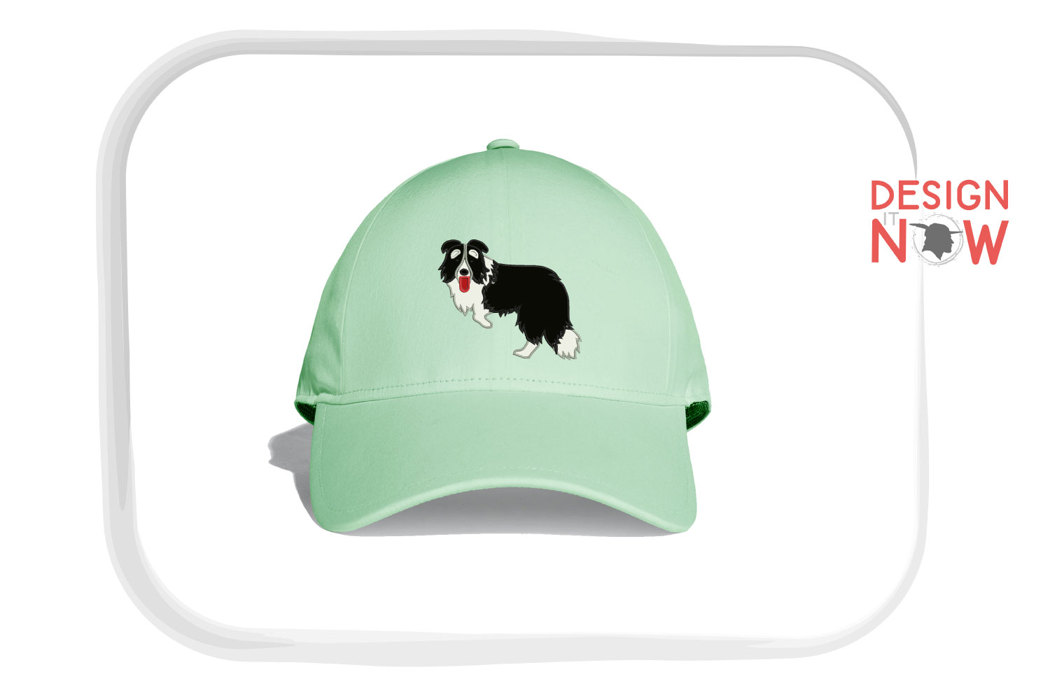 Dog Applique Embroidery Design, Border Collie Embroidery example image 4