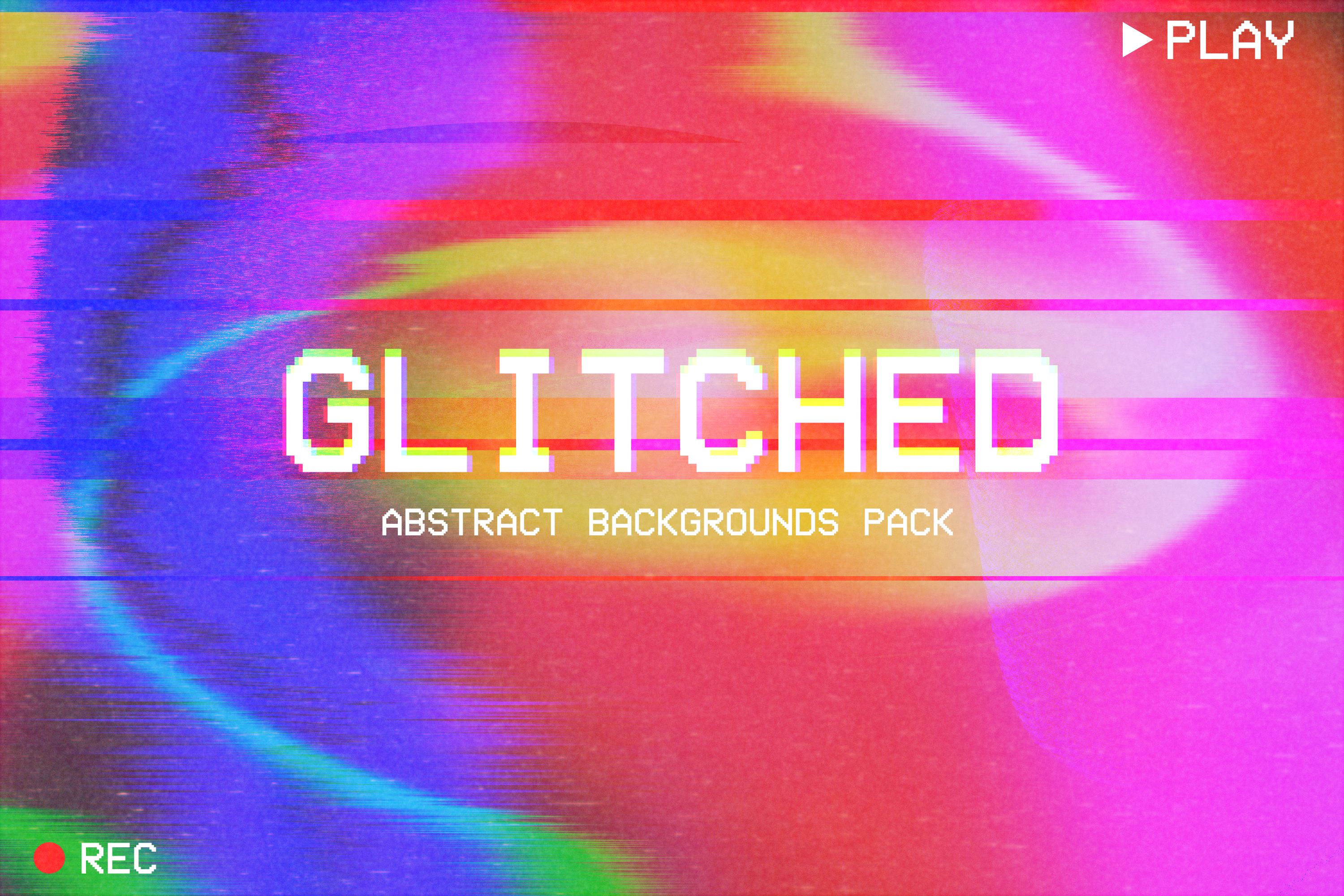Abstract Glitched Backgrounds Pack example image 1