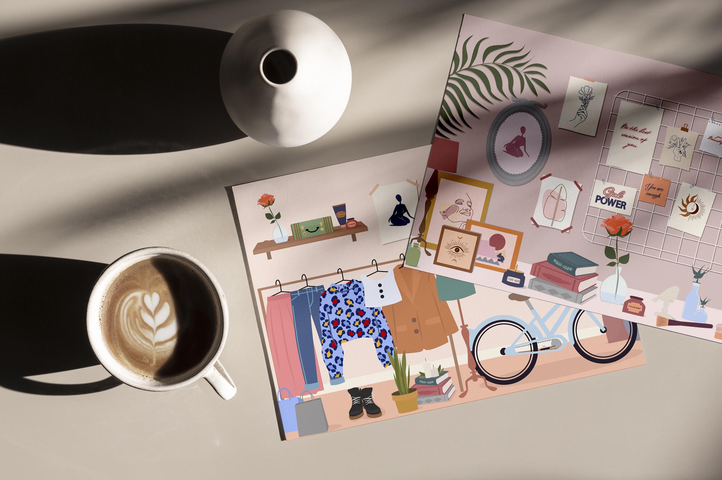 Lifestyle interior & mood board example image 3