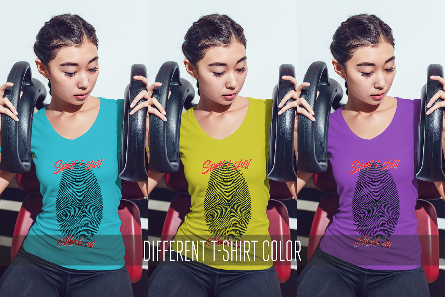 Asian Girl Sport T-Shirt Mock-Up example image 6