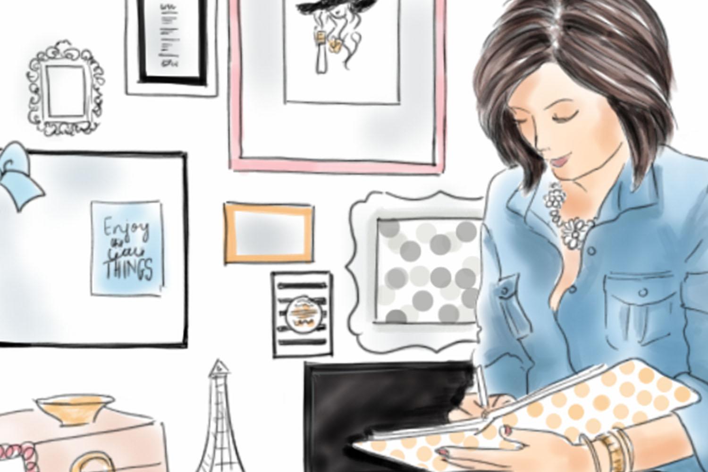 Fashion illustration Girl Boss 1, Watercolour illustration example image 2