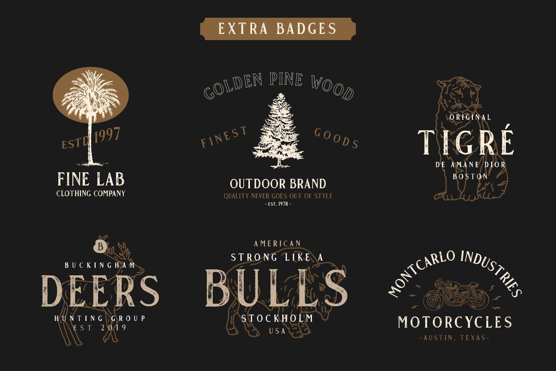 Gold Coast - Vintage Serif Bonus Logo example image 5