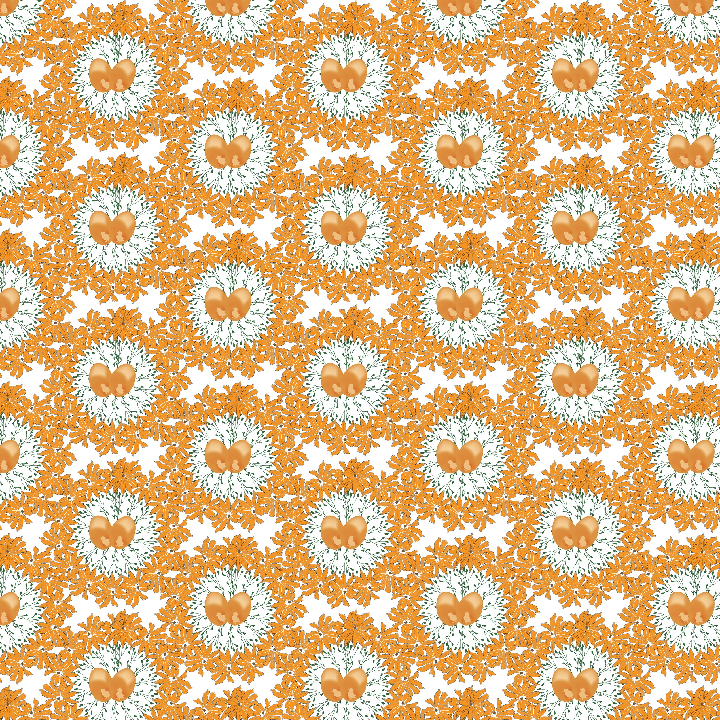Easter pattern. Seamless pattern with Easter motifs. example image 9