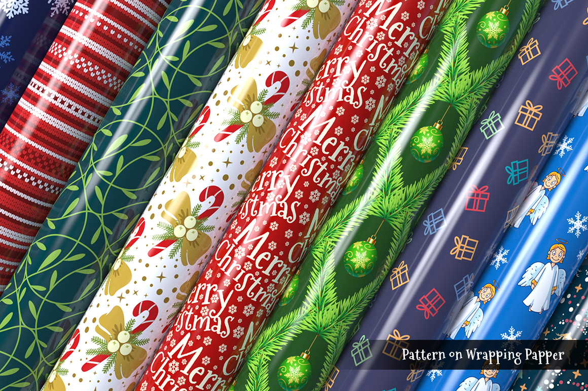100 Christmas Seamless Patterns example image 3