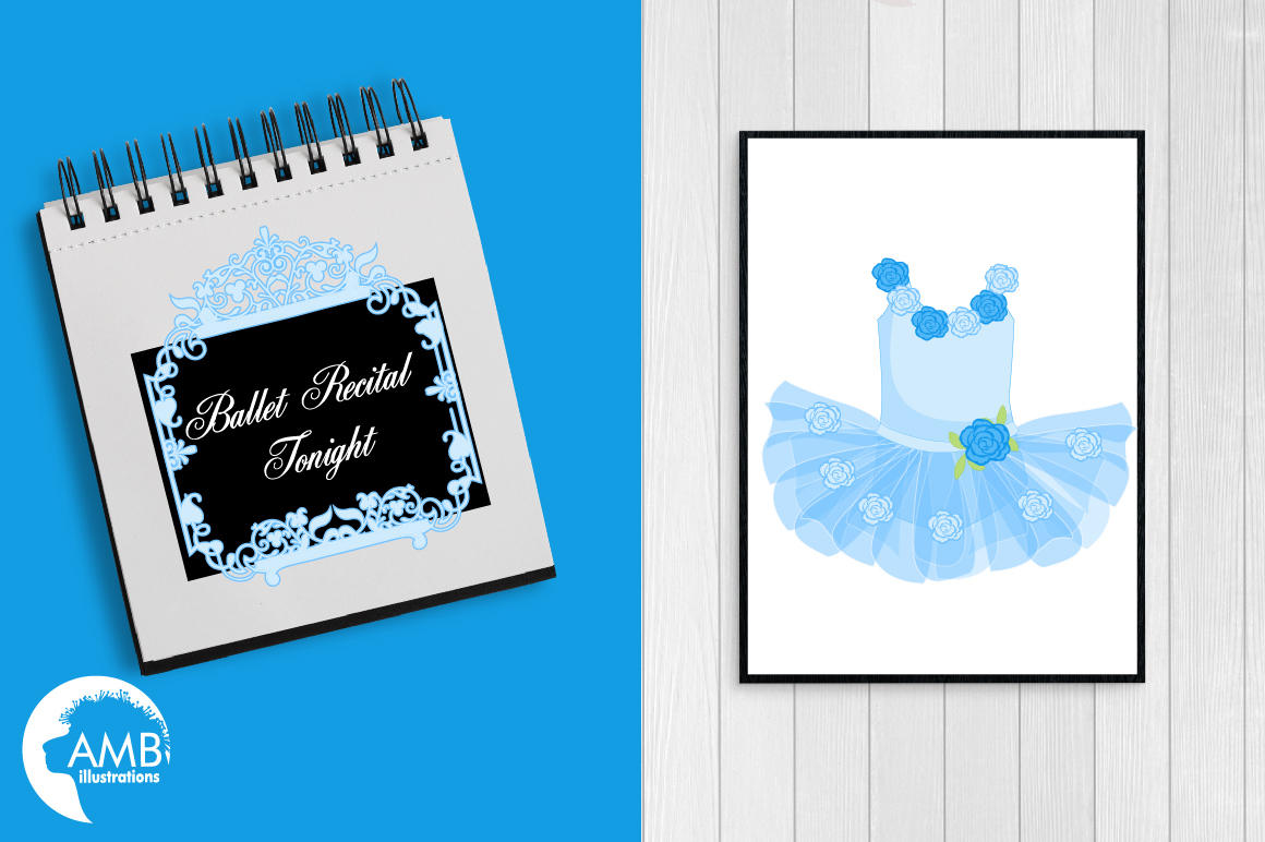 Ballerina Tutus in blue clipart, graphics and illustrations AMB-1319 example image 4