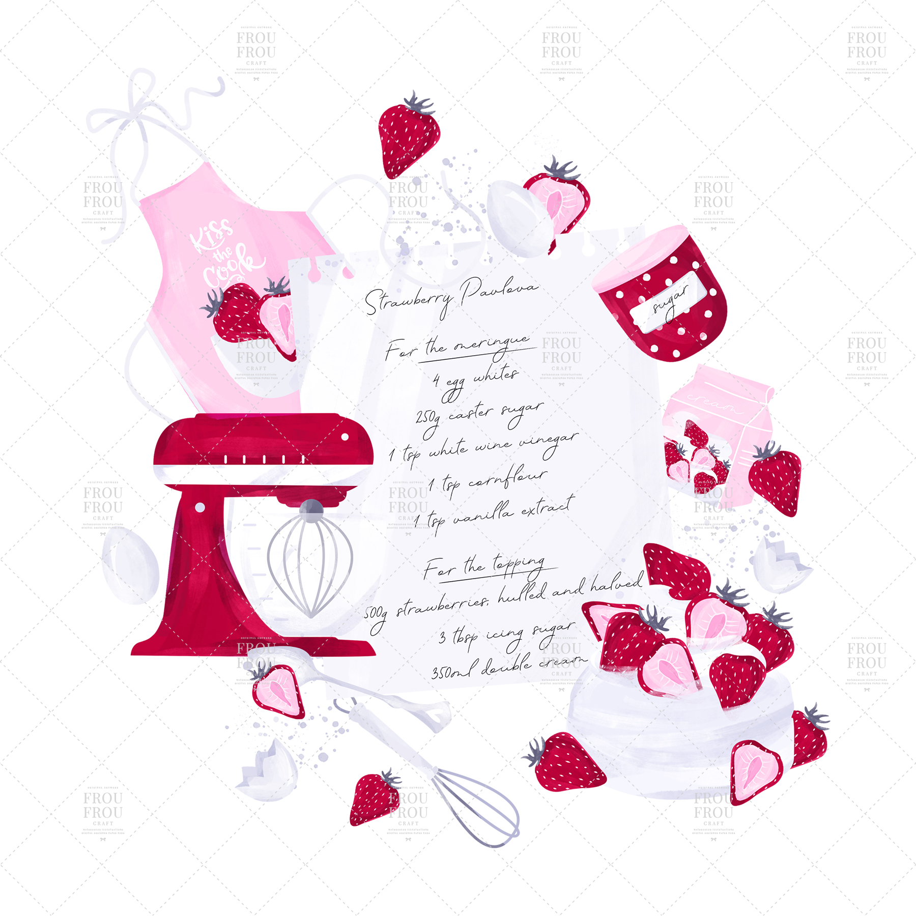 Cooking Bakery Strawberry Kitchen Clip Art example image 6