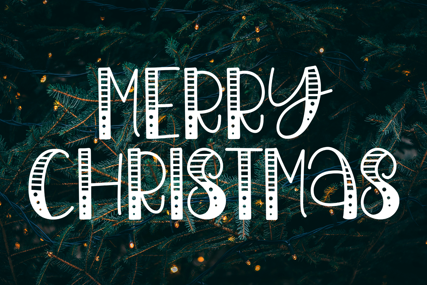 Believe In The Magic - A Christmas Handlettered Font example image 4