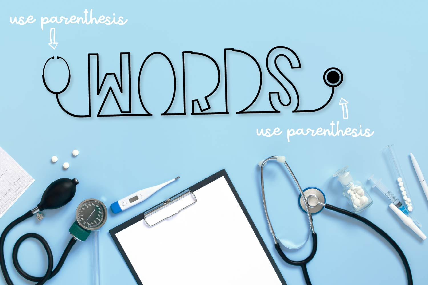 Clinicals - A Stethoscope Font Perfect for Nurses! example image 5