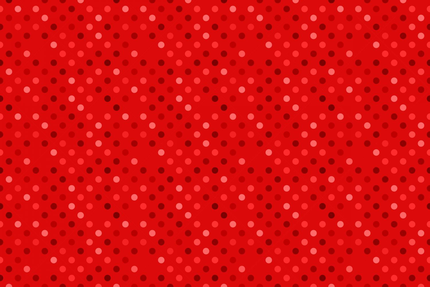 24 Seamless Red Dot Patterns example image 20