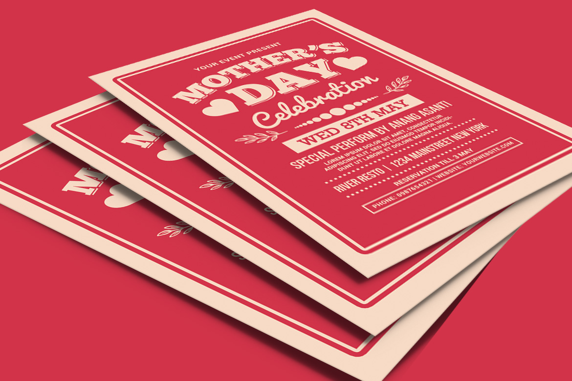Mother's Day Celebration Typography Style example image 4