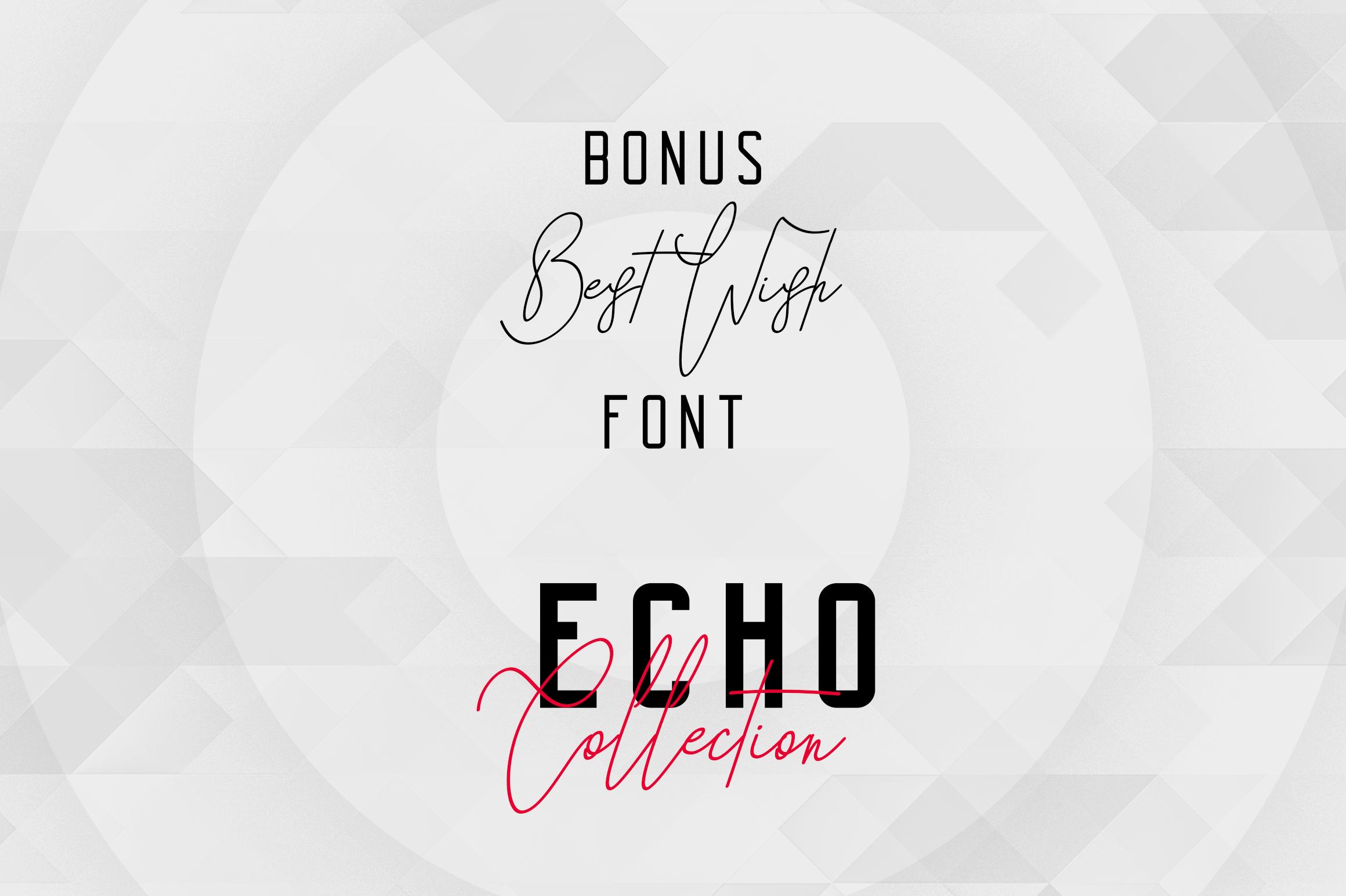 Echo 14 Font Family + Bonus example image 5