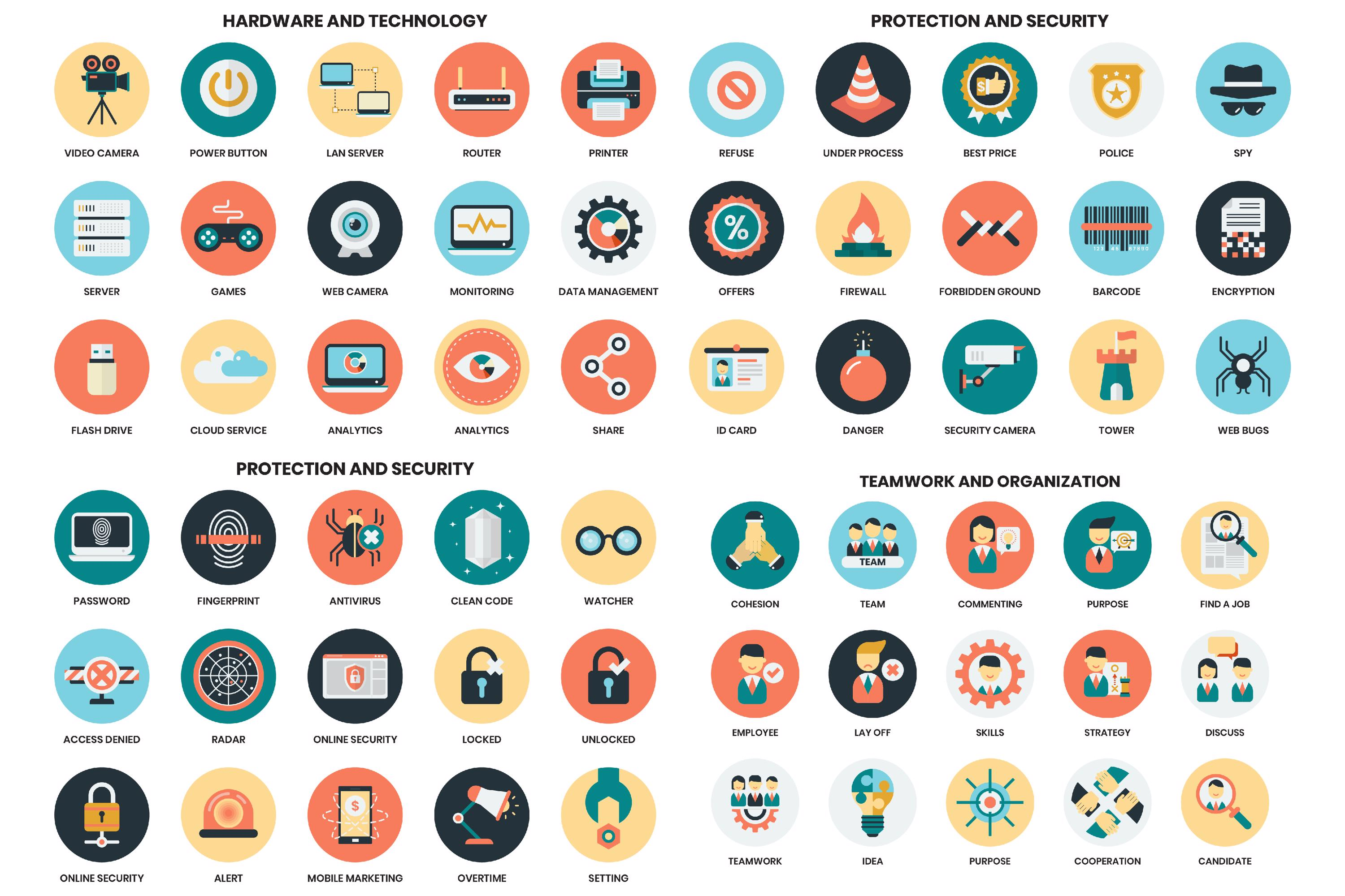 1155 PERFECT ICONS SET example image 9