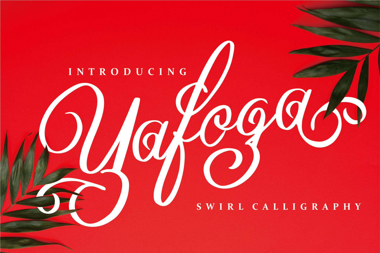 Yafoga - Swirl Calligraphy example image 1