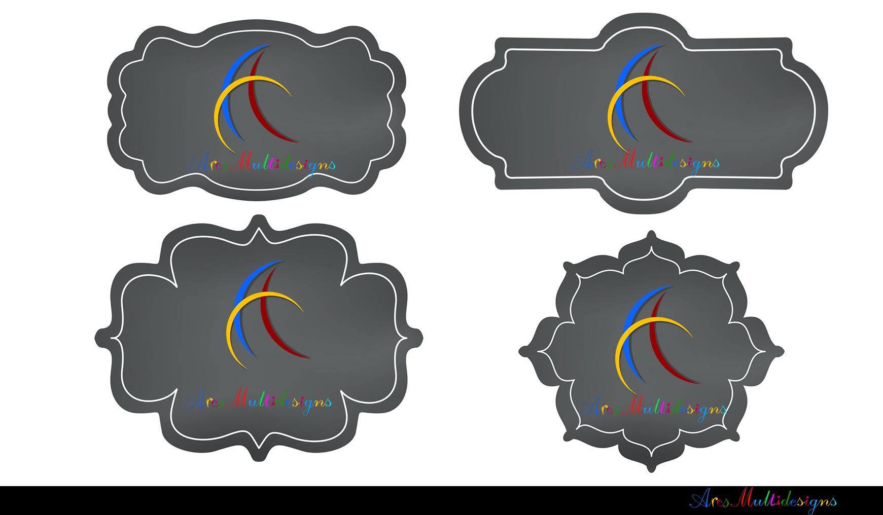 Label clipart bundle / digital label clipart bundle / frames bundle / high quality frames / digital frames clip art / label clipart example image 11
