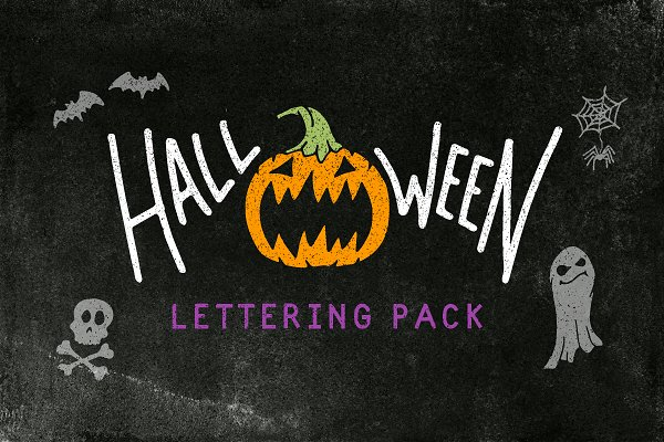 Halloween Lettering Pack example image 1