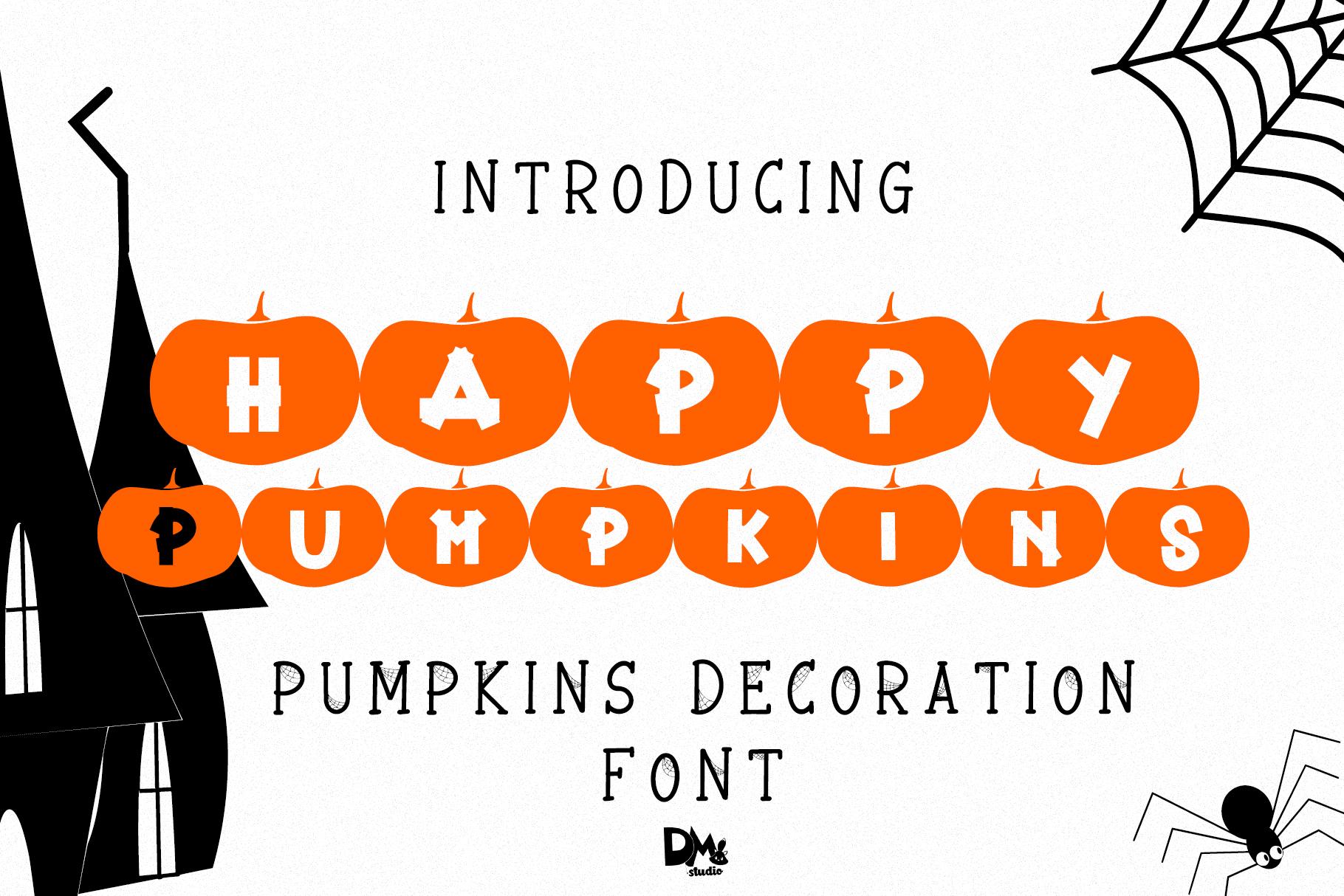 Happy Pumpkins - Pumpkin Decoration Font example image 1