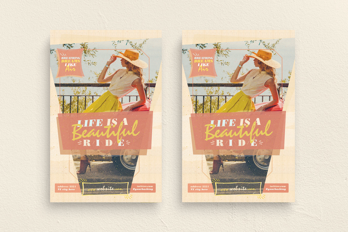 Life Is A Beautiful Ride Flyer Template example image 1