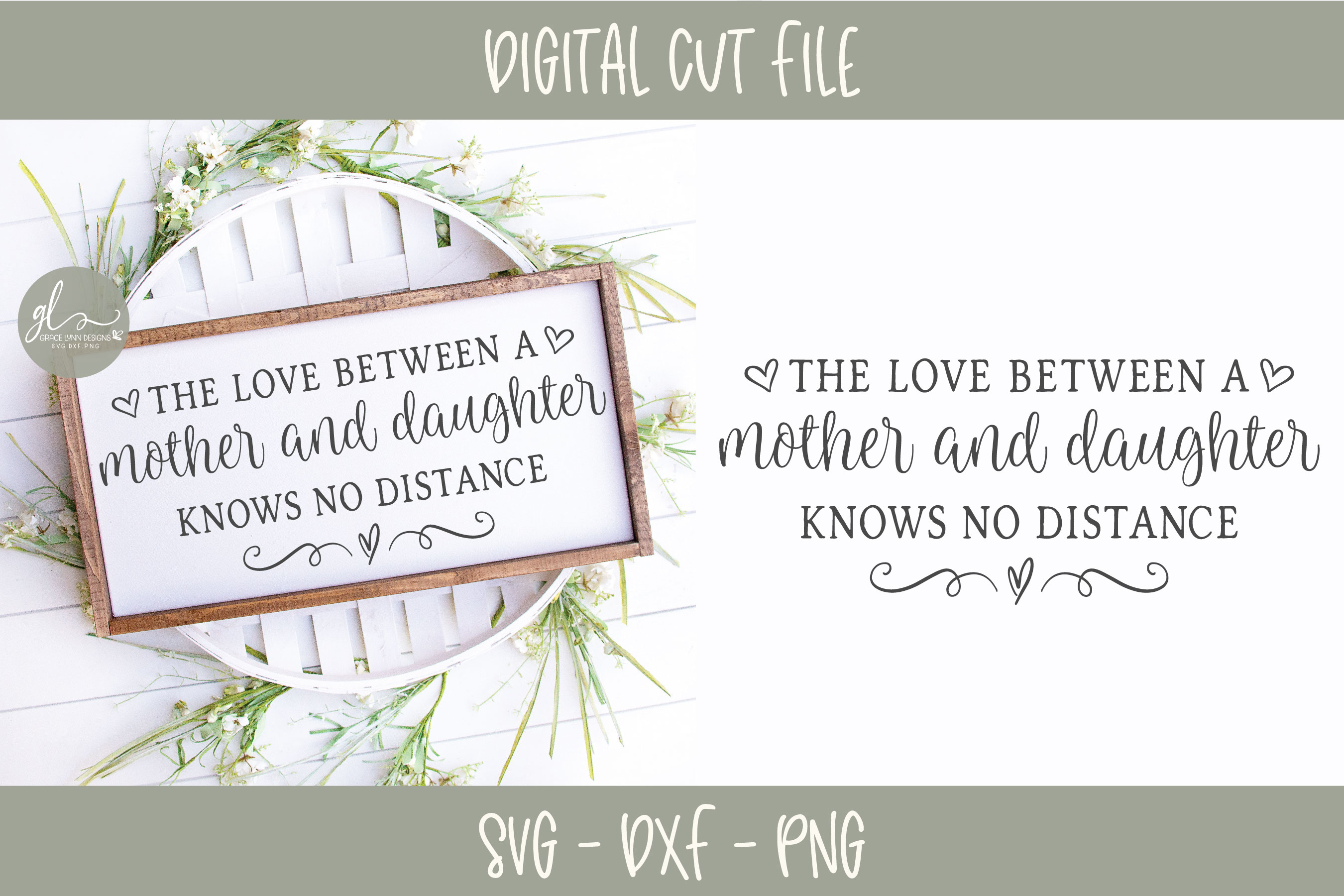 The Love Between A Mother And Daughter - SVG Cut File example image 1