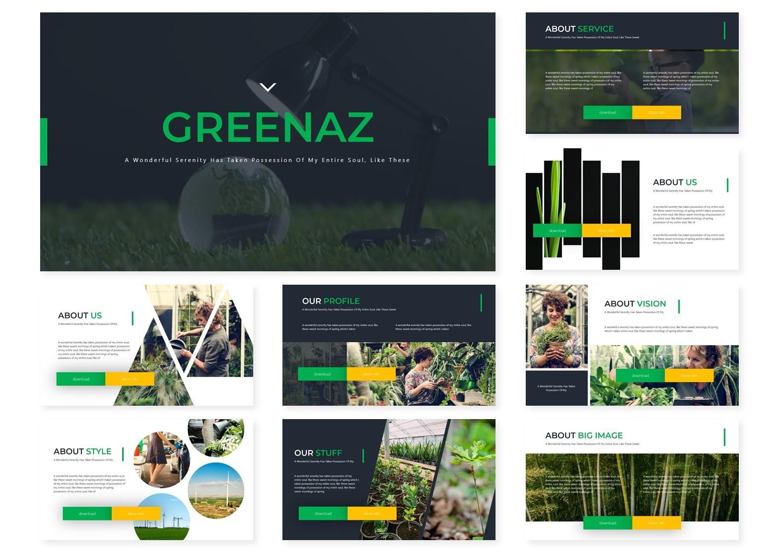 Greenaz | Powerpoint, Keynote, GoogleSlides Template example image 4