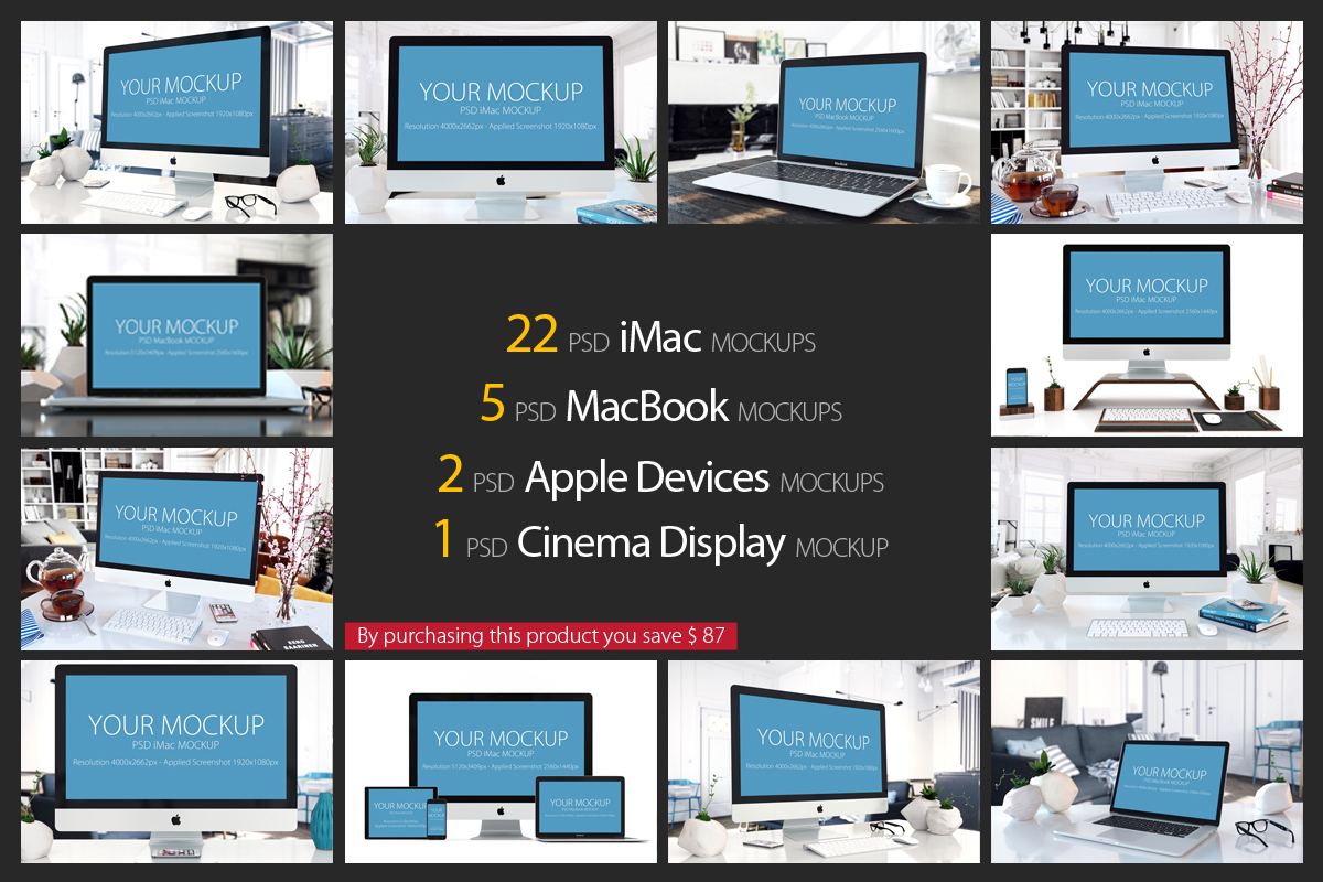 30 PSD Mock-ups Apple Devices example image 2