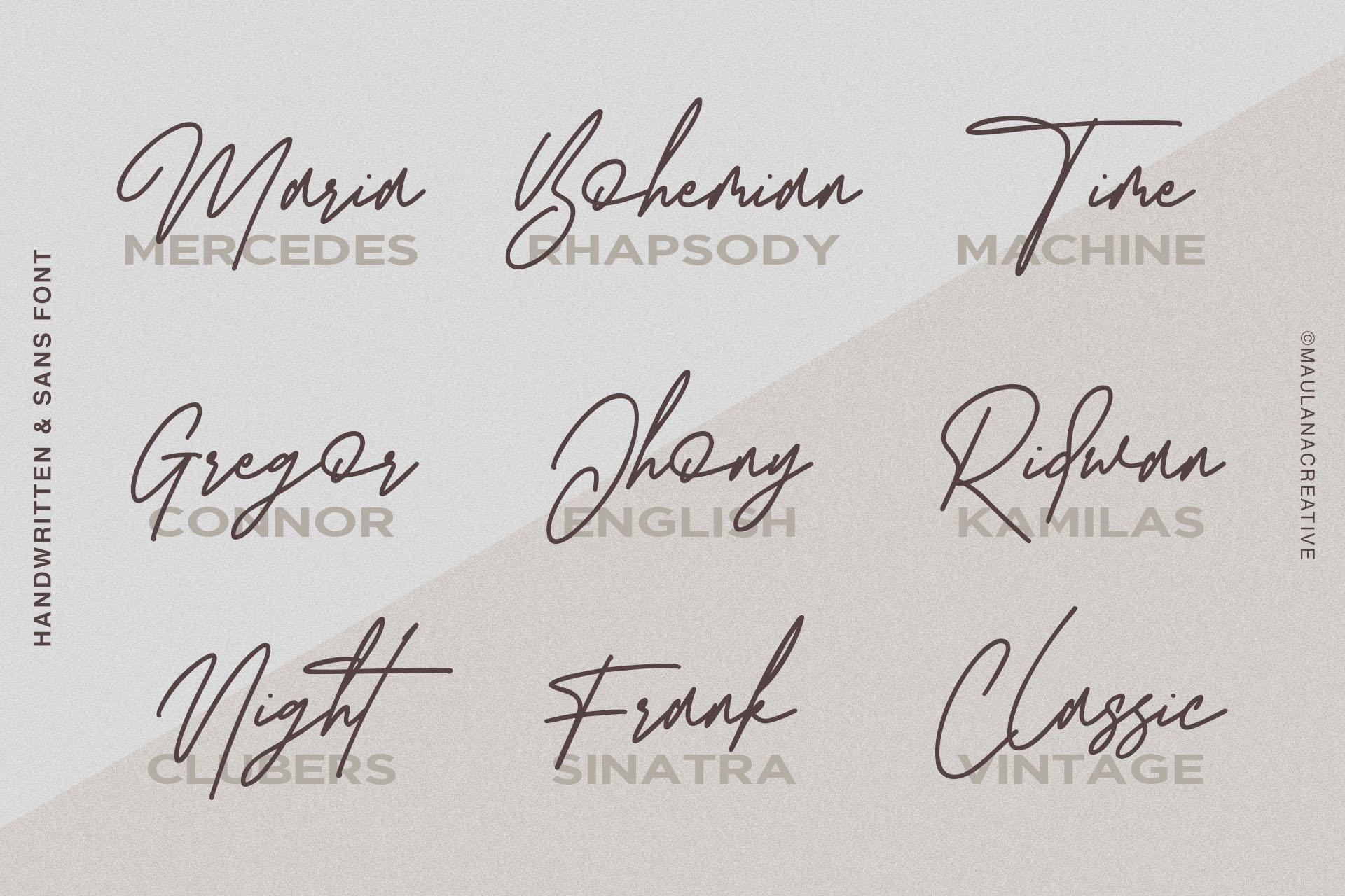 Redbird Signature Font Free Sans example image 8