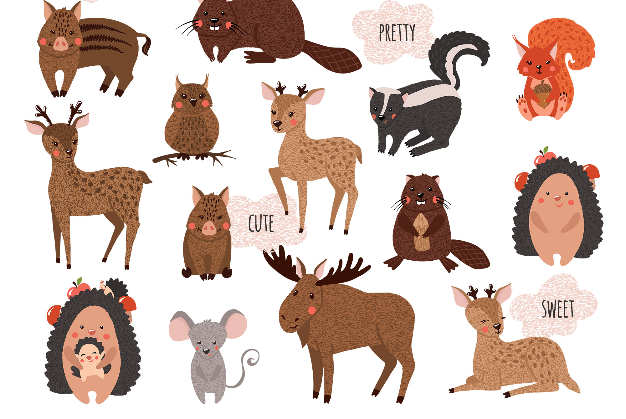 Cute Forest Animals Collection example image 7