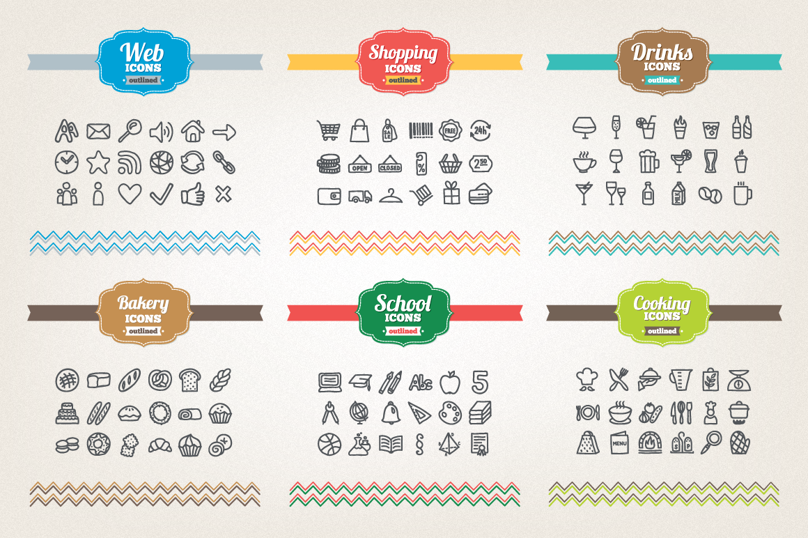 83 Off - Hand Drawn Icons Bundle example image 5