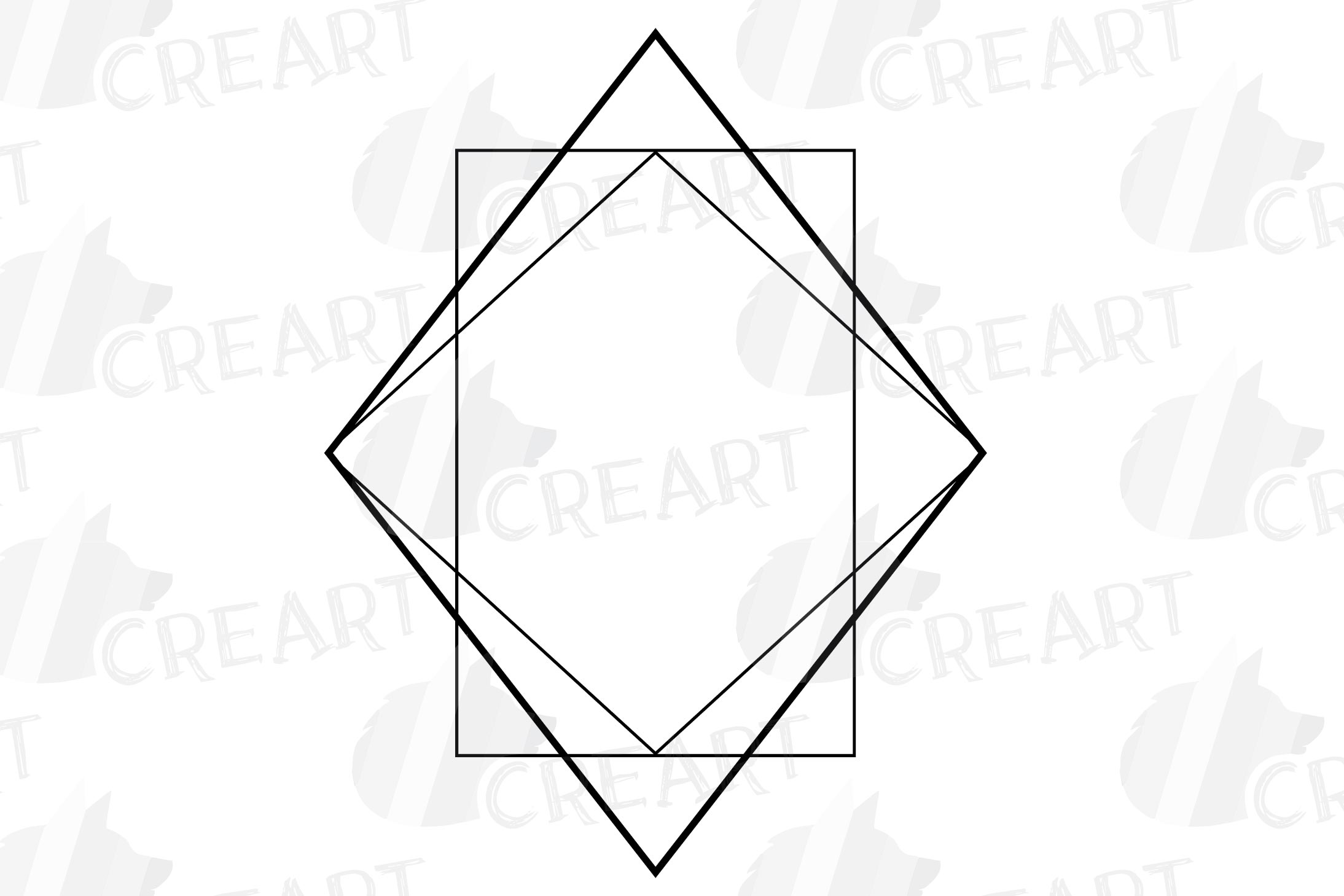 Geometric lineal black frames decor clip art. Wedding border example image 21