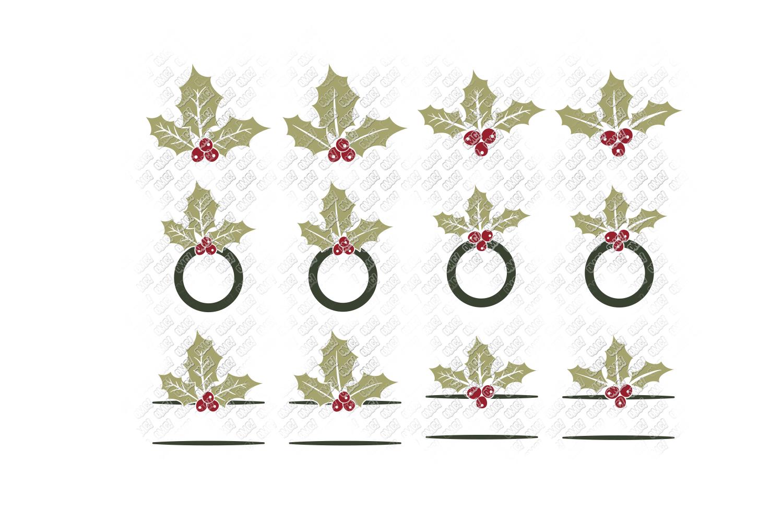Mistletoe SVG Monogram Christmas in SVG, DXF, PNG, EPS, JPEG example image 5