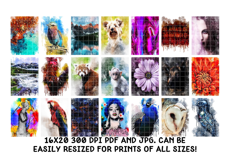 Digital Art Prints- Art Shop In A Box- Art Bundle example image 8