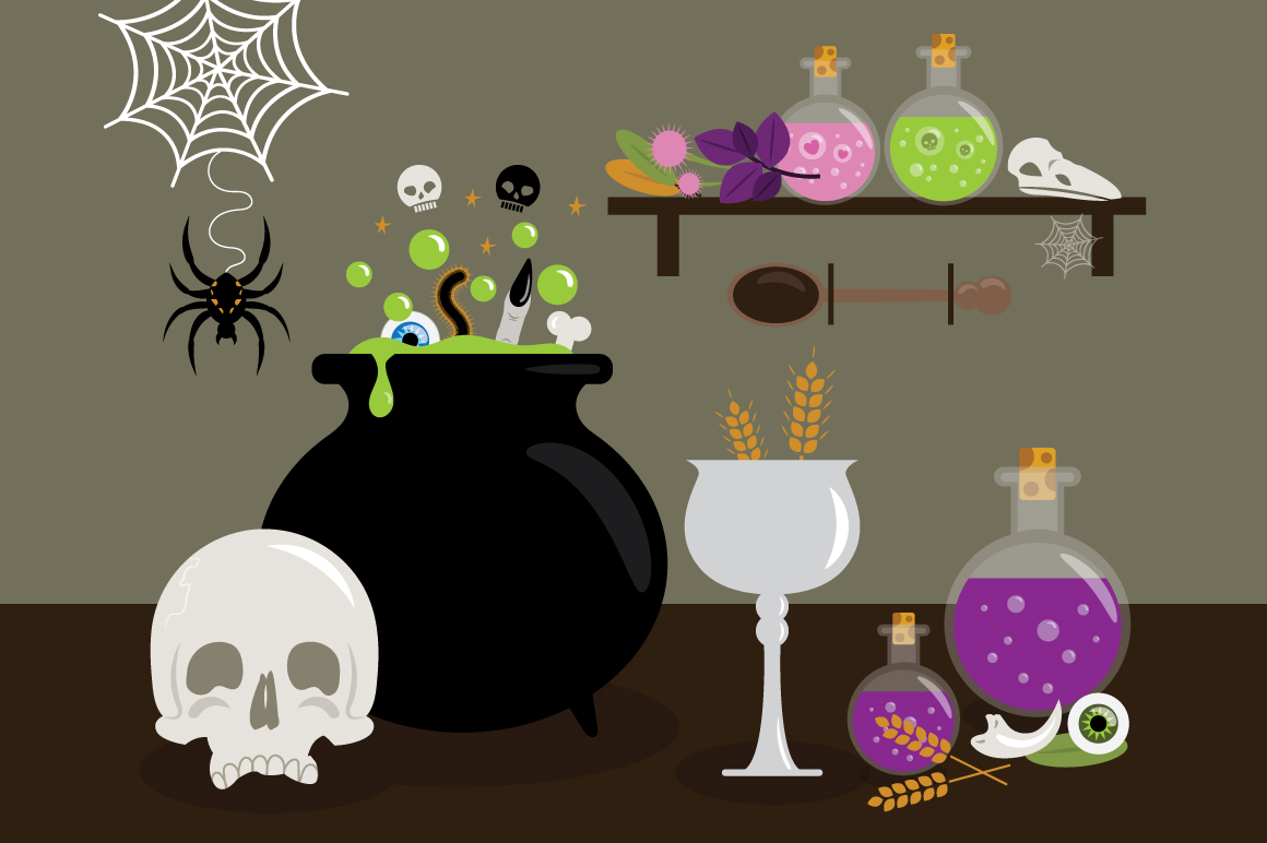 Witches Kitchen Clip Art Set example image 3