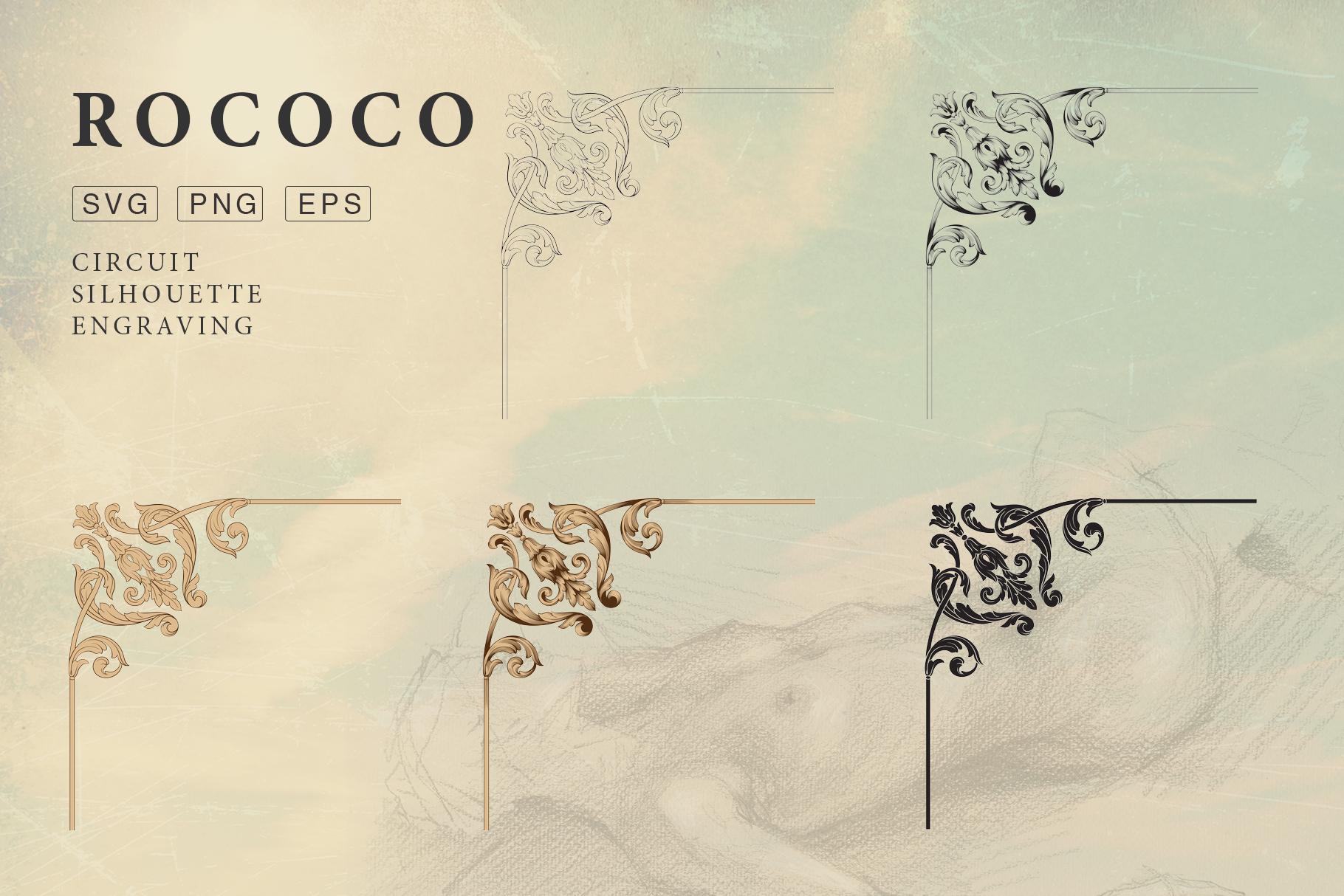 Rococo Romance Ornament page decor example image 2